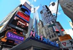 Vierkante New York van tijden stad Royalty-vrije Stock Foto's