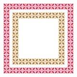 Vierkante overladen kleurenkaders Stock Afbeelding