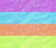 Vierkante patroon plastic achtergrond Stock Foto