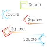 Vierkante pictogrammen Royalty-vrije Stock Afbeeldingen