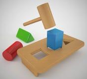 Vierkante Pin om Gat vector illustratie