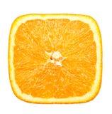 Vierkante plak van sinaasappel royalty-vrije stock afbeeldingen