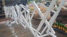 Vierkante staalhanger Stock Fotografie