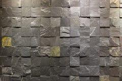 Vierkante steenmuur Stock Afbeelding