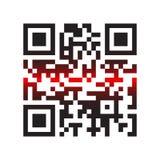 Vierkante Streepjescode Stock Afbeelding