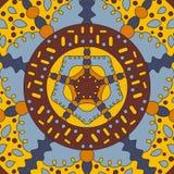 Vierkante symmetrische bandana van het kleurenpatroon Royalty-vrije Stock Foto