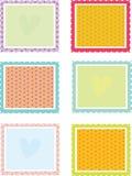 Vierkante texturen Stock Afbeelding