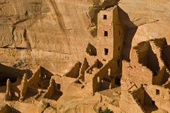 Vierkante Toren Mesa Verde royalty-vrije stock afbeeldingen