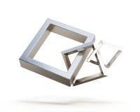 Vierkante verbindingsketen op een witte achtergrond 3d geef ima terug vector illustratie