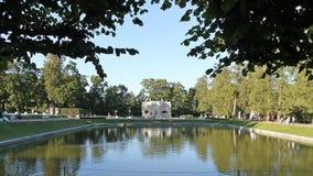 Vierkante Vijver en Hoger Bad Het park van Catherine Pushkinstad royalty-vrije stock afbeelding
