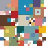 Vierkante vormen in onderliggende strikte netstructuur, die uit modern, eenvoudig patroon in pastelkleuren bestaan Stock Foto