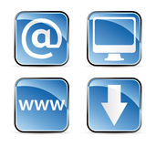 Vierkante Webpictogrammen Stock Afbeelding