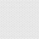 Vierkante witte bakstenen muur stock illustratie