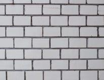 Vierkante witte bakstenen muurachtergrond Royalty-vrije Stock Afbeeldingen