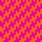 Vierkante Zigzag Houndstooth Royalty-vrije Stock Afbeelding