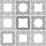 Vierkante zwarte kaderreeks Royalty-vrije Stock Foto's
