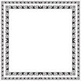 Vierkante zwarte naadloze grenzen Stock Afbeelding