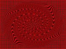 Vierkanten en windas in zwarte en rode kleuren Stock Afbeelding