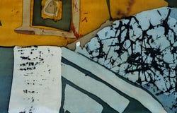 Vierkanten, fragment, hete batik, achtergrondtextuur royalty-vrije stock afbeeldingen