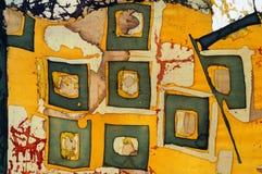 Vierkanten, fragment, hete batik, achtergrondtextuur stock afbeeldingen