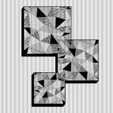 Vierkanten in lage polystijl Stock Foto's
