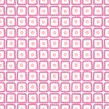 Vierkanten met cirkels - kalm naadloos patroon vector illustratie