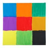 Vierkanten op canvas royalty-vrije stock foto's