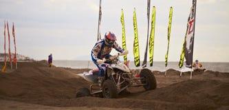 Vierling bij motocrossras Stock Afbeelding