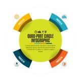 Vierling-deel Cirkel Infographic Royalty-vrije Stock Foto's