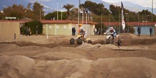Vierlingen bij motocrossras Royalty-vrije Stock Fotografie