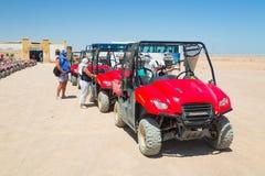Vierlingreis op de woestijn dichtbij Hurghada Royalty-vrije Stock Fotografie
