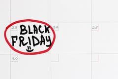 Viernes 23 de noviembre de 2018 negro imágenes de archivo libres de regalías