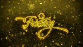 Viernes desea la tarjeta de felicitaciones, invitación, fuego artificial de la celebración