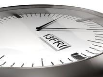 Viernes el décimotercero reloj Fotografía de archivo libre de regalías