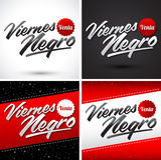 Viernes Negro Venta - Black Friday Sale Spanish text Royalty Free Stock Photo