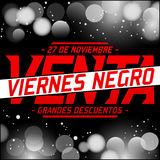 Viernes Negro Venta - Black Friday Sale spanish text Royalty Free Stock Photo