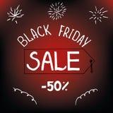 Viernes negro, venta del día de fiesta prospecto del 50 por ciento Foto de archivo libre de regalías