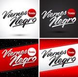 Viernes-Schwarze Venta - Black Friday-Verkaufsspanisch simst Lizenzfreies Stockfoto