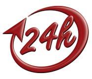 Vierstündliche Ikone zwanzig stock abbildung