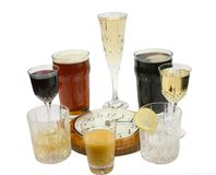 Vierstündliches Trinken Zwanzig Lizenzfreies Stockbild