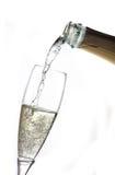 Vierta el champán Fotografía de archivo