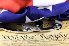 Vierte Änderung zur Verfassung der Vereinigten Staaten Stockbild