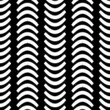 Vierte einfarbige Wellen-horizontales nahtloses Muster Wavsha Lizenzfreie Stockbilder