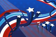Viertel der Juli-Fahne Stockfoto