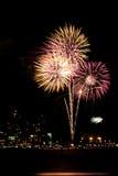 Viertel der Juli-Feuerwerke lizenzfreies stockfoto