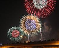 Viertel der Juli-Feuerwerke Lizenzfreies Stockbild