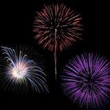 Viertel der Juli-Feuerwerke Stockfoto