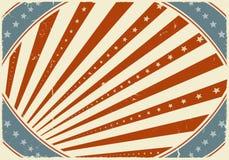 Viertel des Juli-Plakat-Hintergrundes Stockfotos