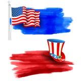 Viertel glücklichen Unabhängigkeitstags Amerika Julis stock abbildung