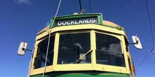 Viertel-Tram Aucklands Dockline Wynyard Stockfotografie